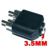 3.5 Mm Stereo Female To 2 Rca 2rca Male Adapter