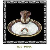 Pooja Thali With Ganesh Statue – 3 Pc.