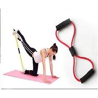 Stretch band with handles for body toning and stretchi