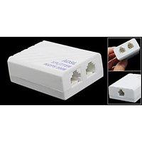 ADSL TELEPHONE PHONE RJ11 MODEM LINE SPLITTER FILTER - 2 PIECES