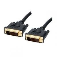 DVI D (24+1)PIN TO DVI D DUAL LINK MALE CABLE WITH FERRITE CORES - 1.5 METERS 1.5M