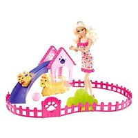 Barbie Puppy Play Park And Barbie Doll Gift Set