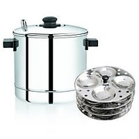 Stainless Steel Idli Cooker With 5 idli Stand