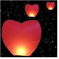 Sky Lantern  Wish Balloon P Heart Shape Pack Of 3