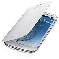White Flip Cover For Samsung Galaxy Galaxy S3 SMC-16
