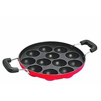 Large Paniarram Appam Patra With Stainless Steel Lid-12 PCs