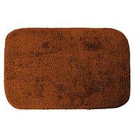 "Just Linen Multipurpose Saddle Brown Cotton Floor Mat -24x16"""