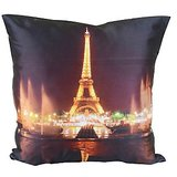 Effel Tower With Light Cushion Covers Digitally Printed-7 Wonder Of The World Series