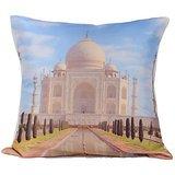 Taj Mahal In White Cushion Covers Digitally Printed