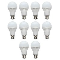 7W White LED Bulbs(Pack Of 10)