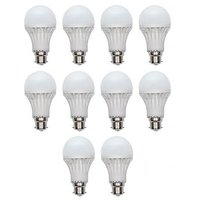 10W White LED Bulbs(Pack Of 10)