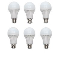12W White LED Bulbs(Pack Of 6)