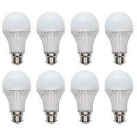 12W White LED Bulbs(Pack Of 8)