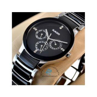 Rado Chronograph Black Silver  Men's Watch Imported - 72532572