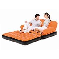 Original Bestway Branded Inflatable Velvet Sofa/Bed Orange Colour