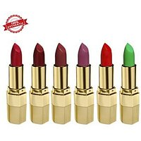 Blue Heaven Combo of 6 Xpression Lipstick (R 008, M 012, P 074, MO 162, CB 028  GN 101)