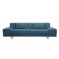 Contemporary Sofa With Metal Tube Legs And Broad Track Arms