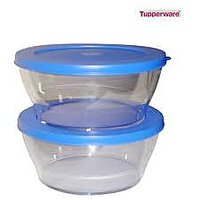 Tupperware Clear Bowls Set Of 2 Medium Size