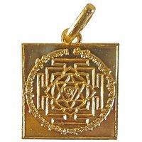 Gold Plated Maa Bagalamukhi Yantra On Silver Pendant,Spiritual Gift
