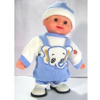 "Singing & Walking Cute BOY - Feel Of Soft Toy With Music And Walk (12"" Toy)"