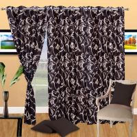 Pack Of 2 Designer Polyester Eyelet Door Curtain - 30 Option