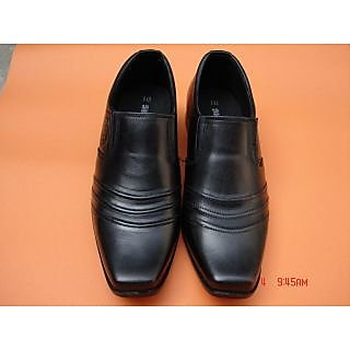 Men's Formal Leather Loafer Shoes In Black Color