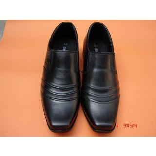 Men's Formal Leather Loafer Shoes In Black Color - 72545744
