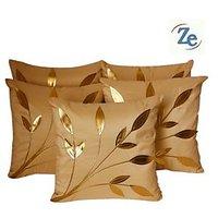 Leaves Patch Cushion Cover Beige(5 Pcs Set)