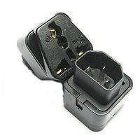 IEC 320 C14 Male Plug To Universal Female Jack AC Power Travel Adapter Connector