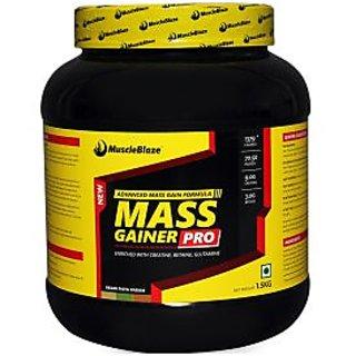 MuscleBlaze Mass Gainer Pro, Kesar Pista Badam 1.5kg