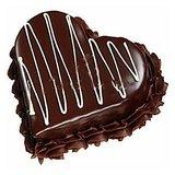 Floral Mall Eggless Heart Shape Chocolate Cake