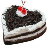 Floral Mall Heart Shape Blackforest Cake