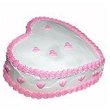 Floral Mall Heart Shape Pineapple Cake