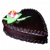 Floral Mall Heart Shape Chocolate Cake