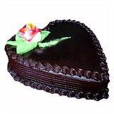 Floral Mall Heart Shape Chocolate Cake