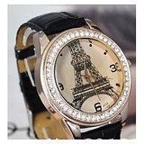 Ibeli Women'S Eiffel Tower Watch - Black [Clone]
