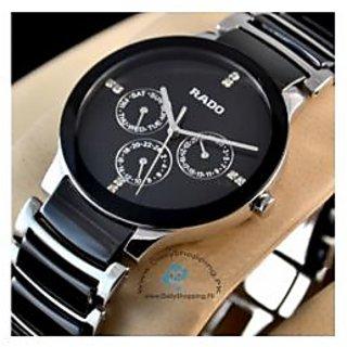 Rado Chronograph Black Silver  Men's Watch Imported