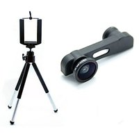 3 IN 1 CAP LENS KIT FOR IPHONE 6 WITH UNIVERSAL MOBILE TRIPOD