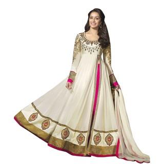 First Loot Shraddha KapoorS Pure Georgette Anarkali