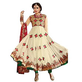 First Loot Beautiful Floral Embroidered Anarkali Suit