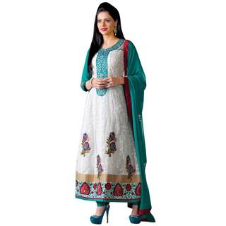 First Loot Fancy Faux Chiffon Embroidery Anarkali Dress