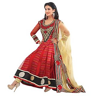 First Loot Magnificent Golden Embroidered Anarkali Suit