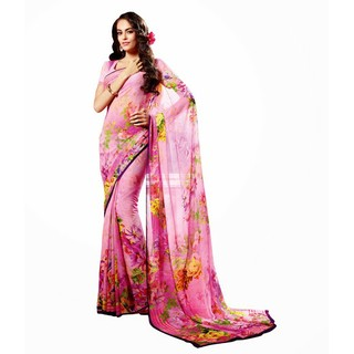 Ethnicbasket Digital Printed Georgette Saree.