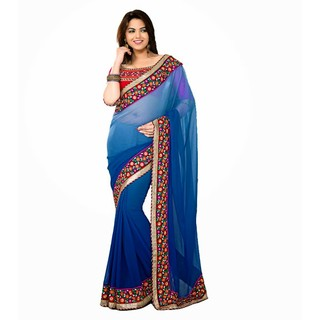 Ethnicbasket Georgette Party Wear Saree.