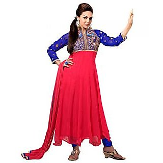 Ethnicbasket Georgette Party Wear Pink Salwar Suit.