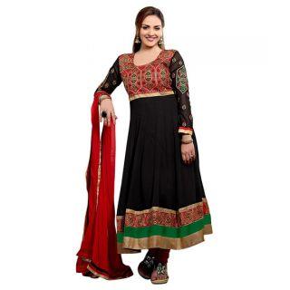 Ethnicbasket Georgette Designer Black Salwar Suit.