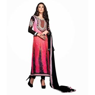 Ethnicbasket Digital Printed Pink Salwar Kameez.