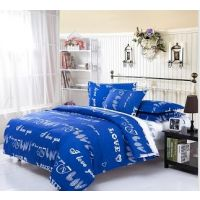USA Luxury Valentines Day LOVE  Dbl Comforter Set, 4 PCS, Duvet Cover, Bed Sheet