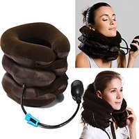 Portable Neck Pillow Tractor For Cervical Spine Three Layers Neck Massager