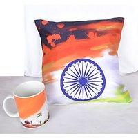 Chakra Independence Day Mug & Cushion Cover